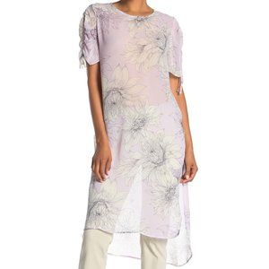 Vince Camuto Pagoda Blossoms Lavender Tunic
